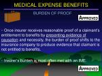 medical expense benefits7