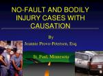 no fault and bodily injury cases with causation