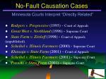 no fault causation cases