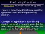 pre existing conditions30