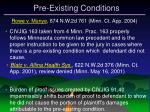 pre existing conditions32
