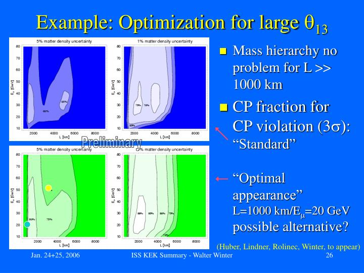 Example: Optimization for large