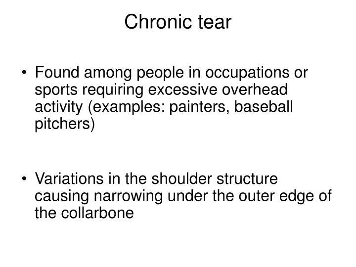 Chronic tear