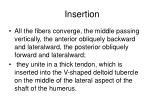 insertion