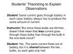 students theorizing to explain observations