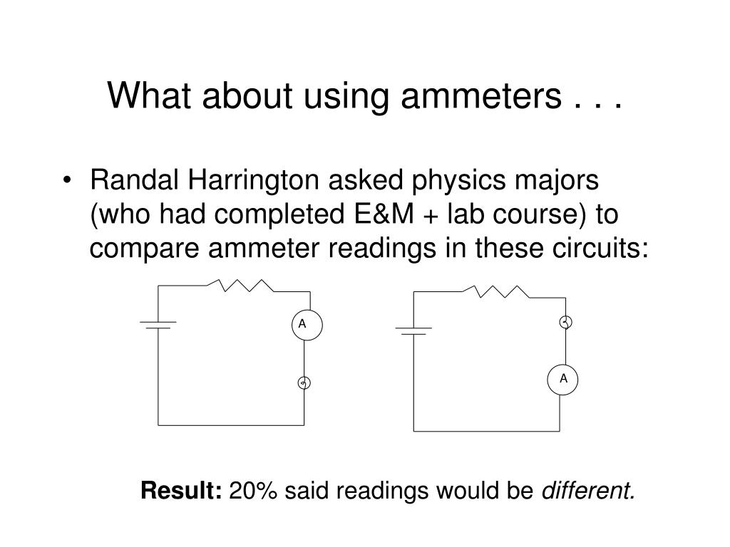 What about using ammeters . . .