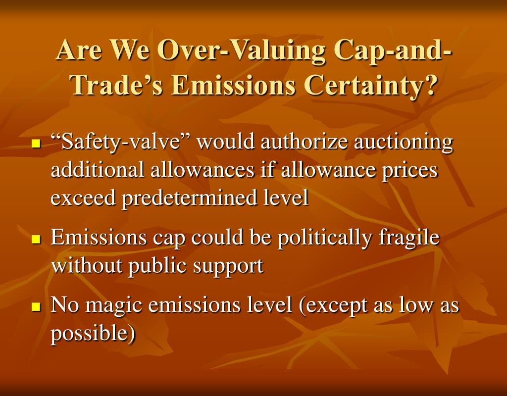 Are We Over-Valuing Cap-and-Trade's Emissions Certainty?