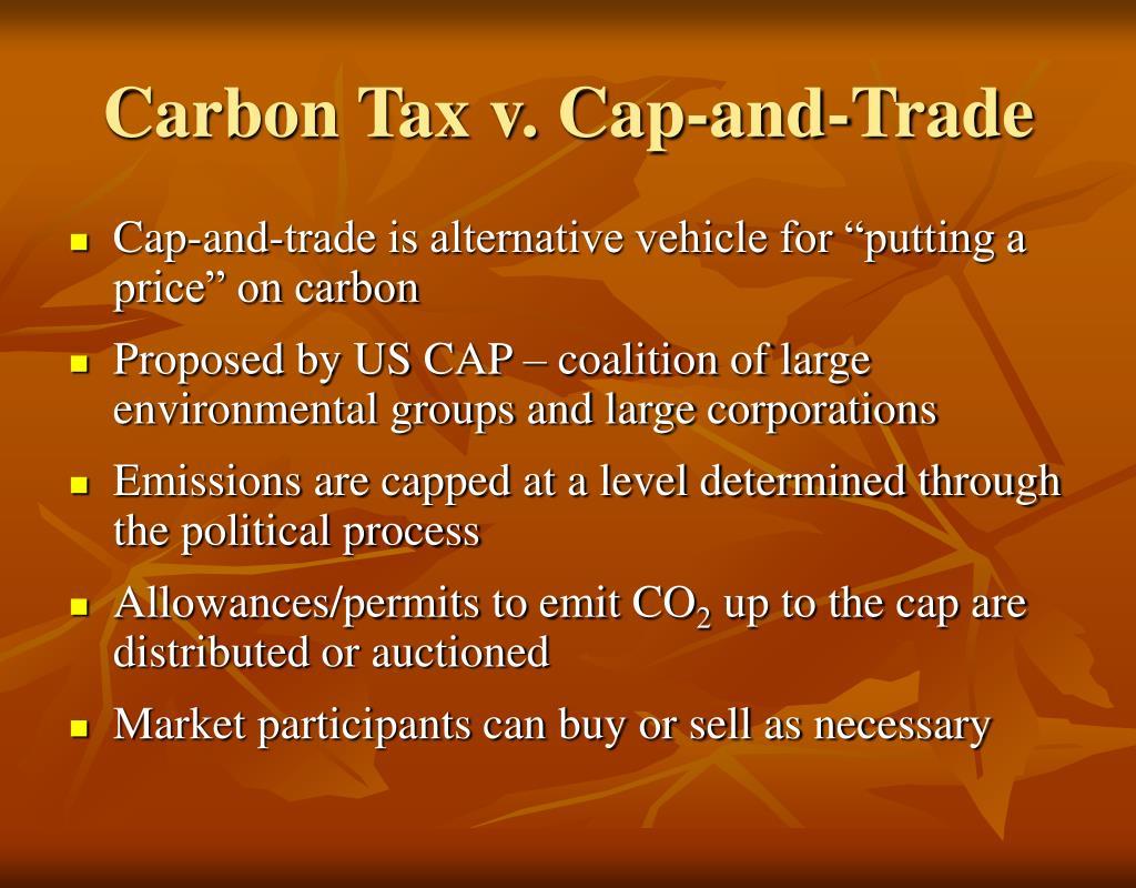 Carbon Tax v. Cap-and-Trade