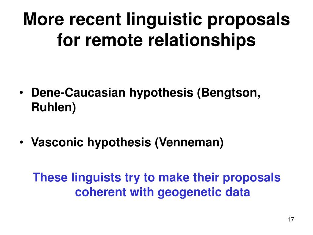 More recent linguistic proposals for remote relationships