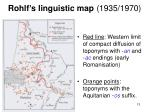 rohlf s linguistic map 1935 1970