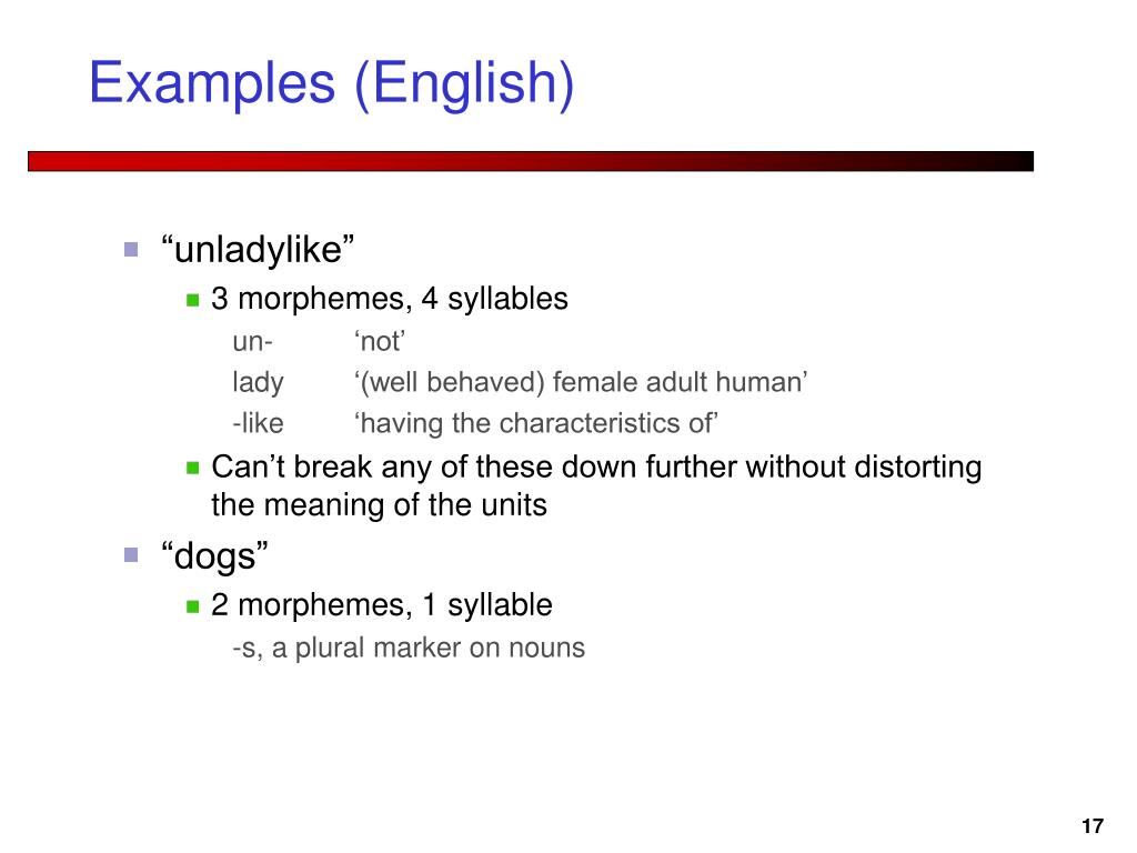 Examples (English)