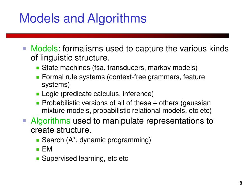 Models and Algorithms