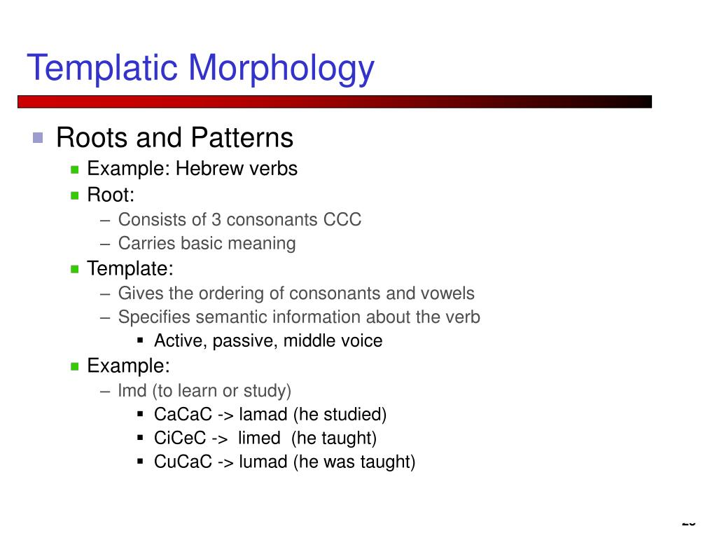 Templatic Morphology