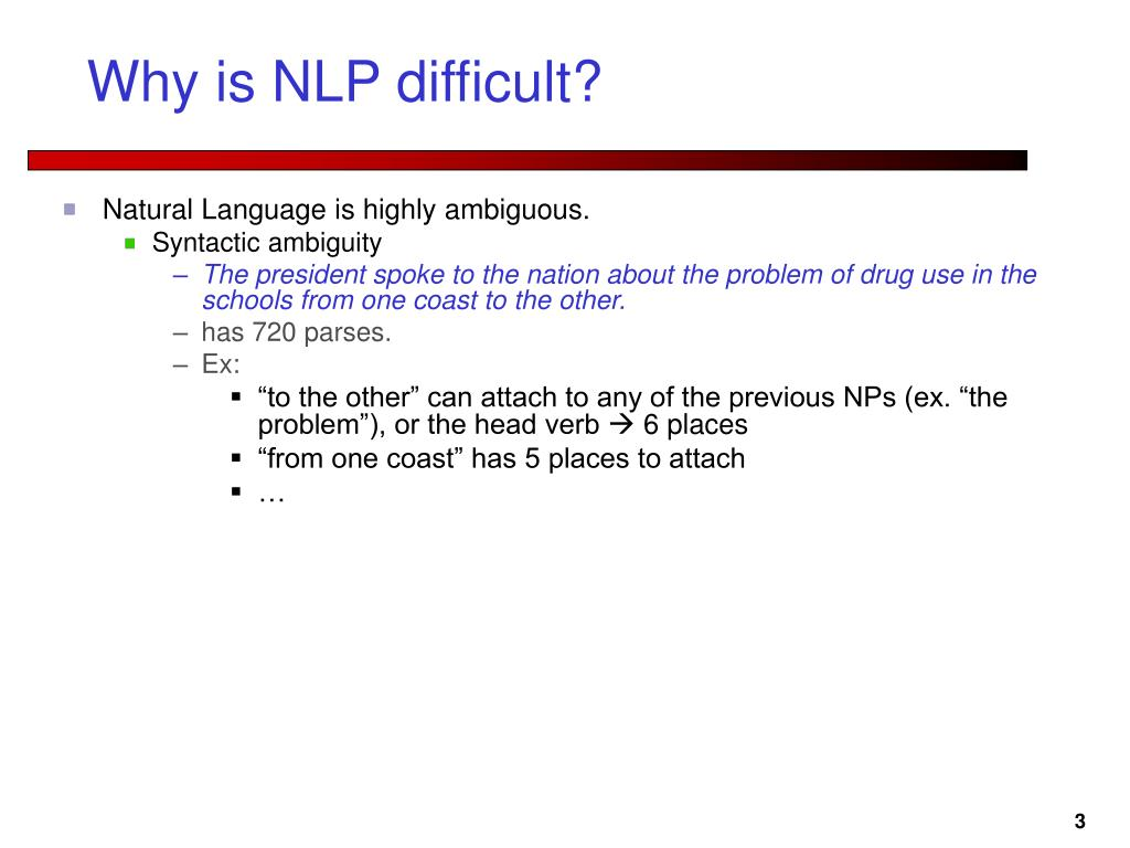 Why is NLP difficult?
