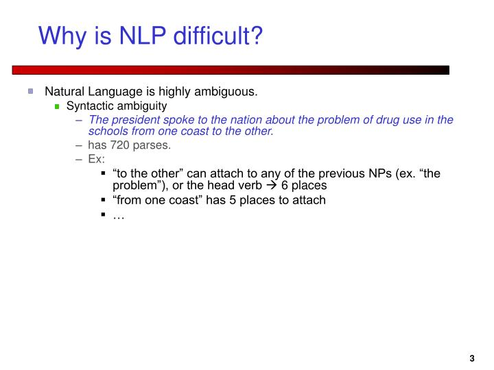 Why is nlp difficult