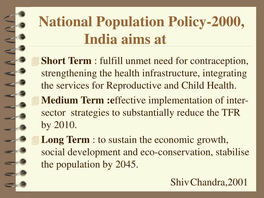 National Population Policy-2000,    India aims at