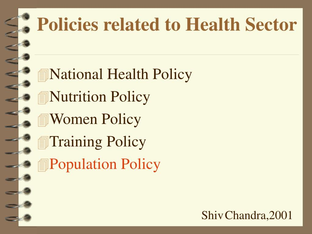 Policies related to Health Sector