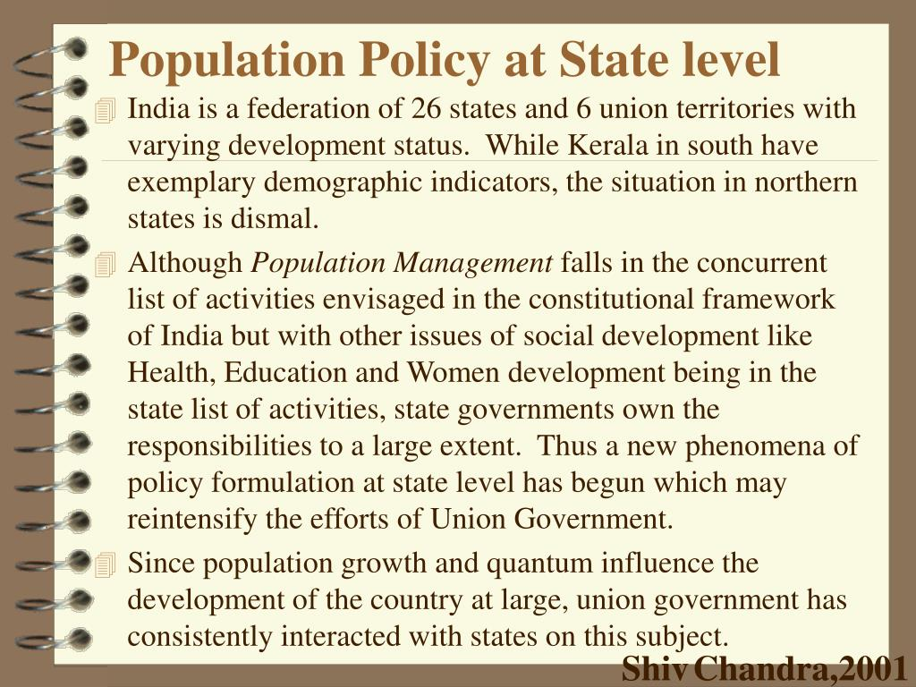 Population Policy at State level