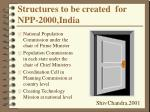 structures to be created for npp 2000 india