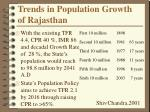 trends in population growth of rajasthan