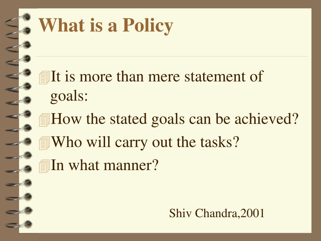 What is a Policy