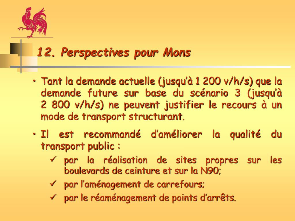 12. Perspectives pour Mons