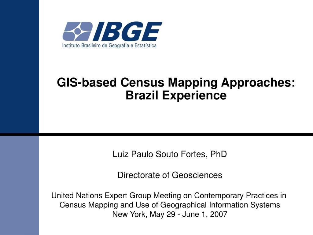GIS-based Census Mapping Approaches: