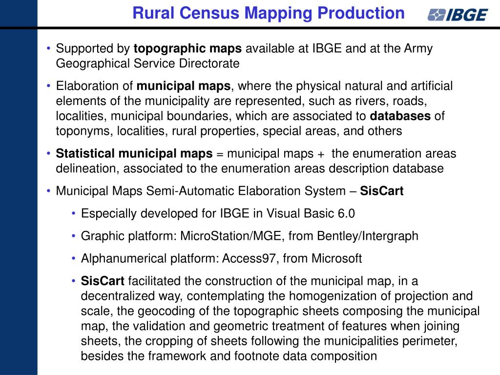 Rural Census Mapping Production