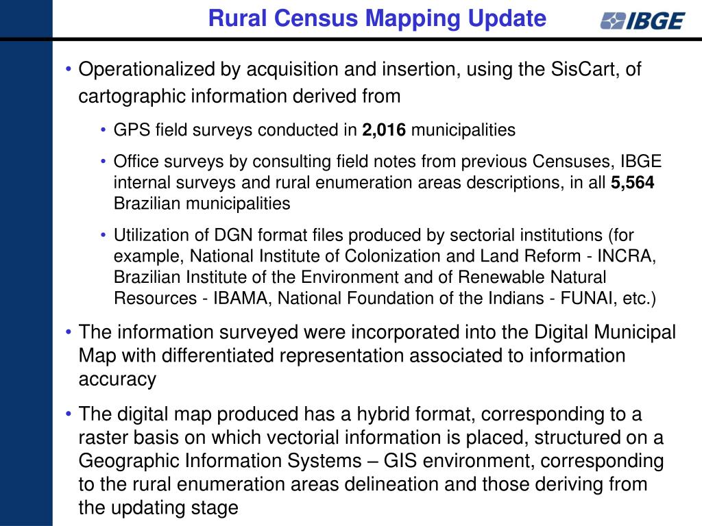 Rural Census Mapping Update