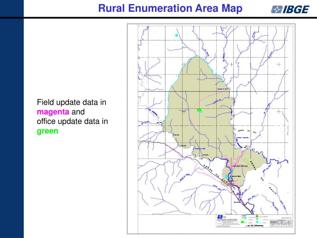Rural Enumeration Area Map