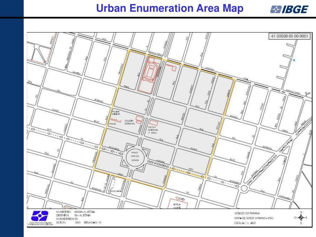 Urban Enumeration Area Map