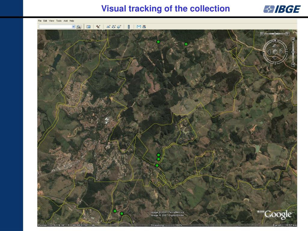 Visual tracking of the collection