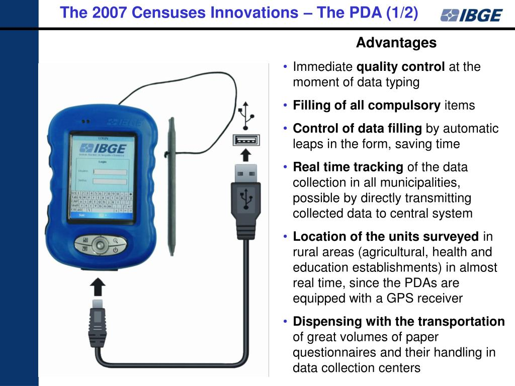 The 2007 Censuses Innovations – The PDA (1/2)