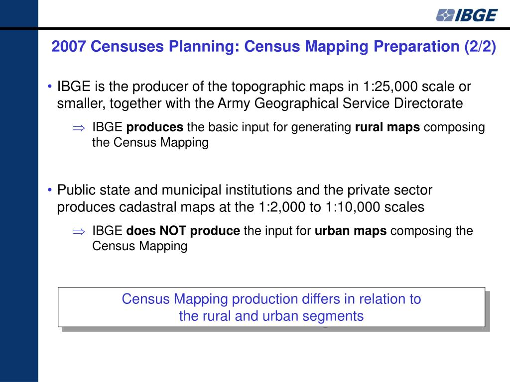 2007 Censuses Planning: Census Mapping Preparation (2/2)