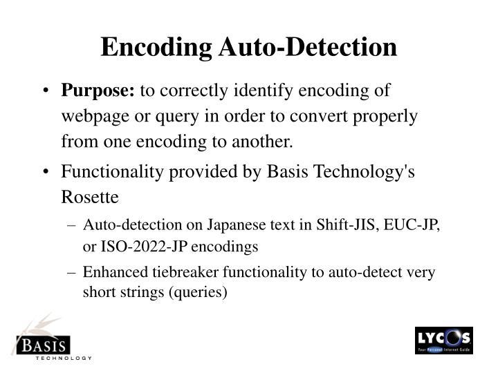 Encoding Auto-Detection
