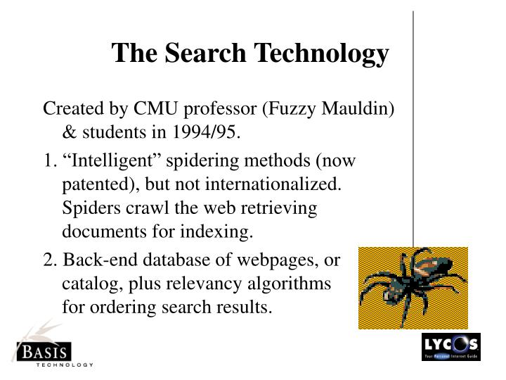 The Search Technology