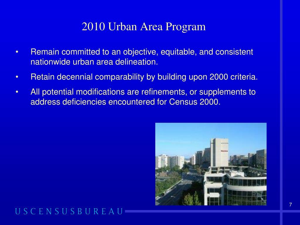 2010 Urban Area Program