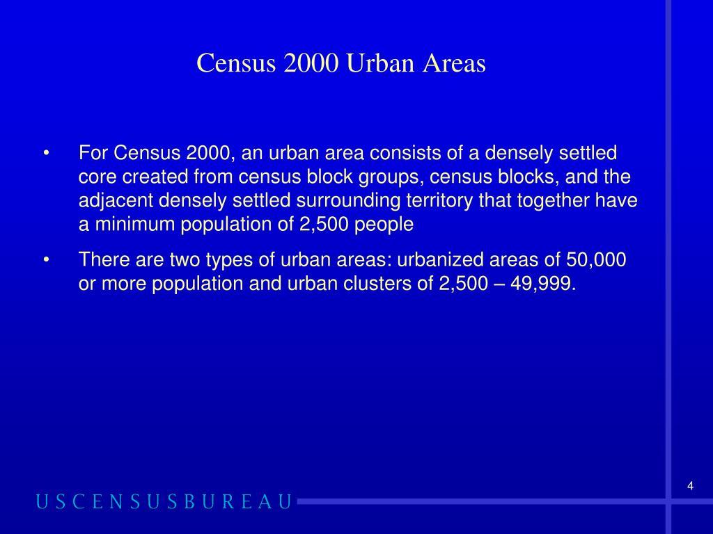 Census 2000 Urban Areas