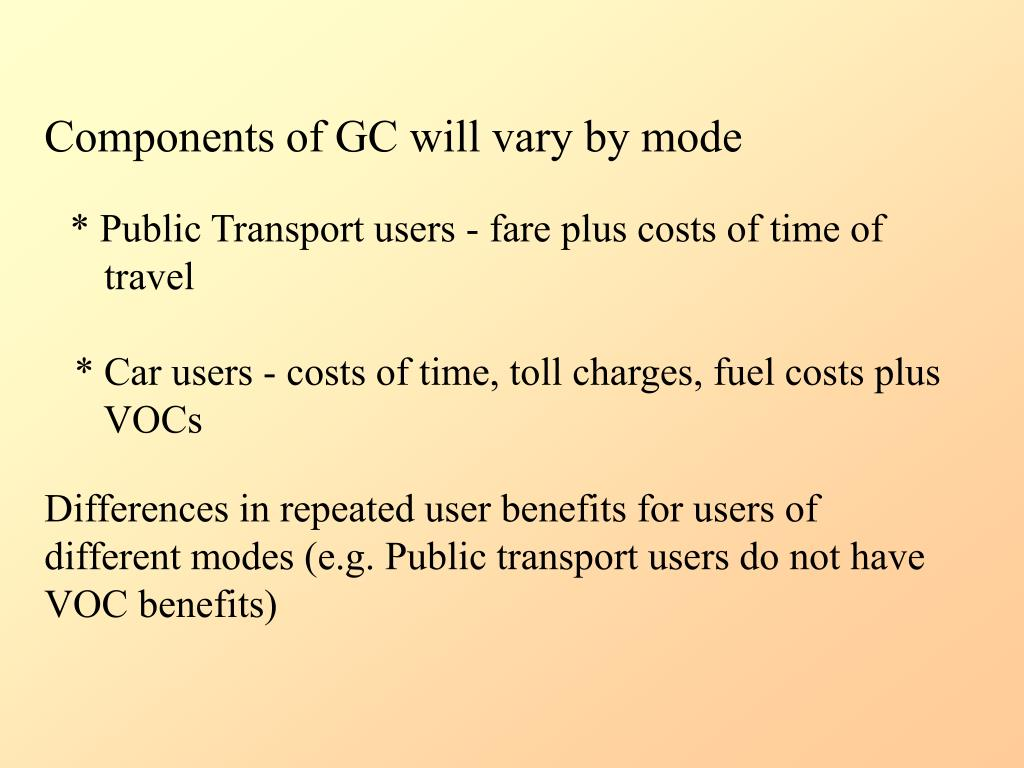 Components of GC will vary by mode