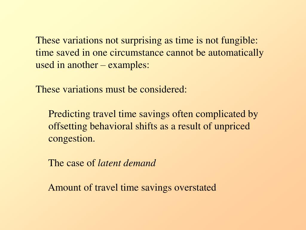 These variations not surprising as time is not fungible: