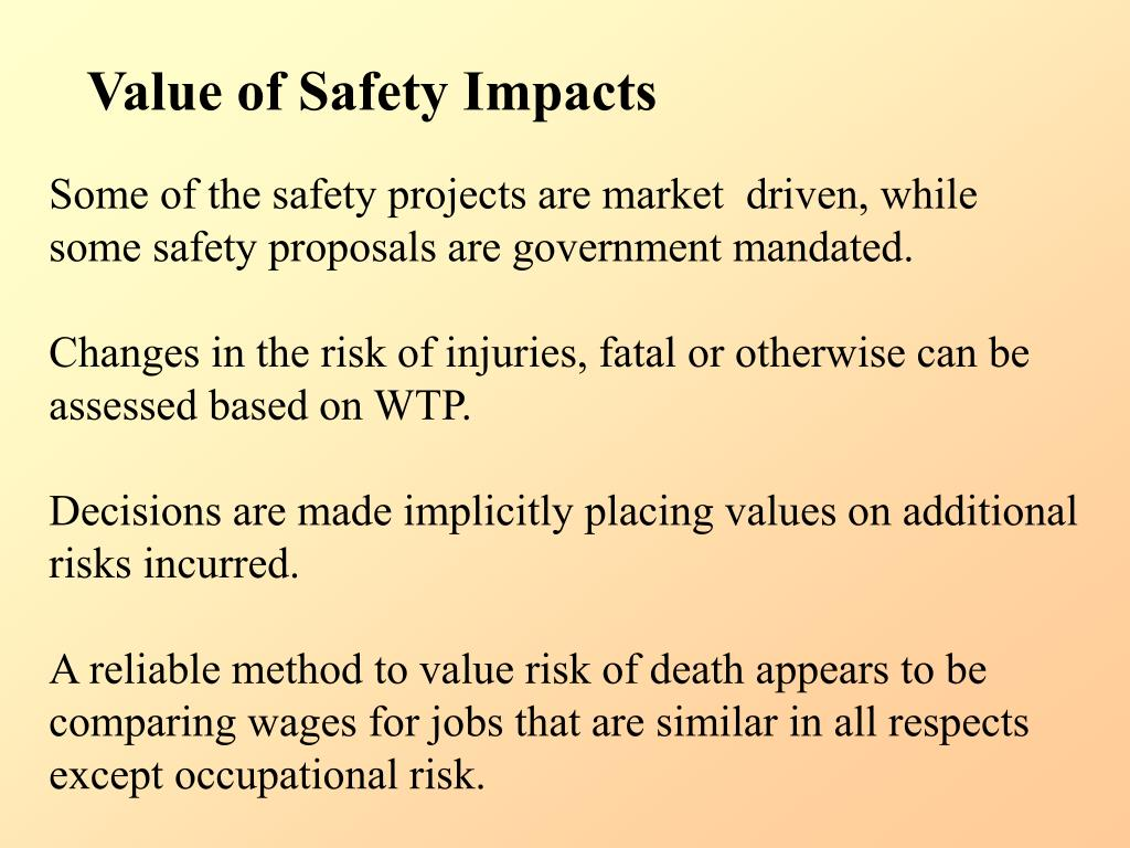 Value of Safety Impacts
