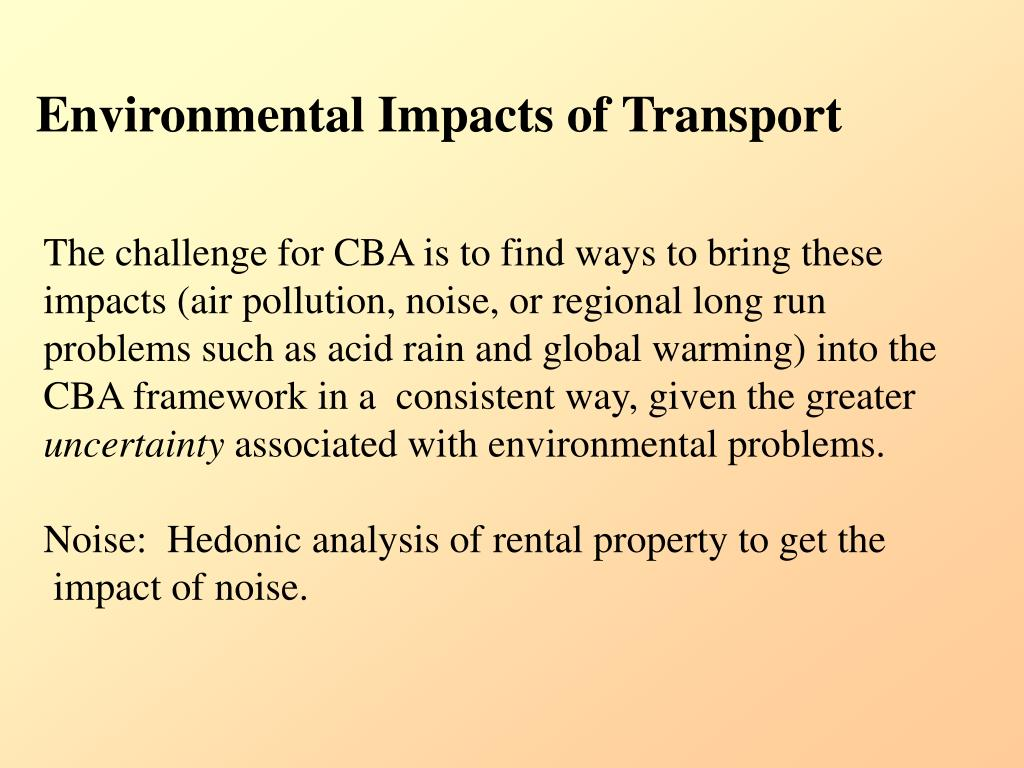 Environmental Impacts of Transport