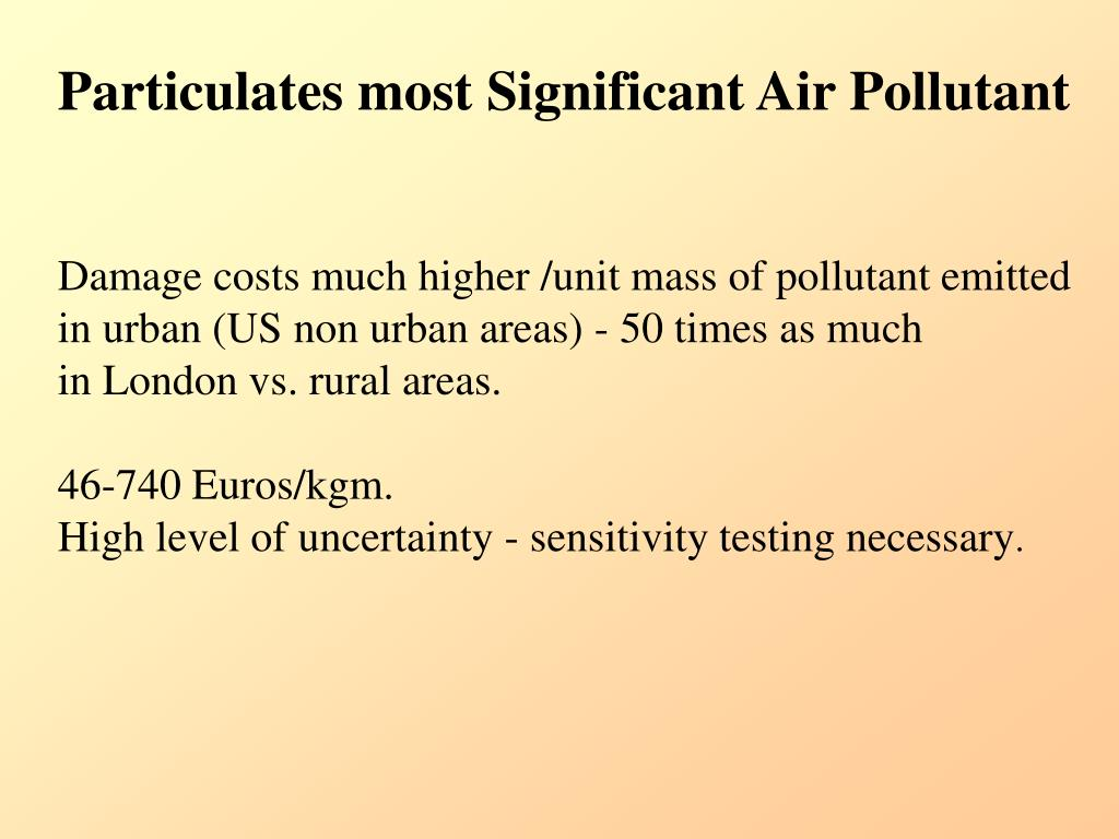 Particulates most Significant Air Pollutant