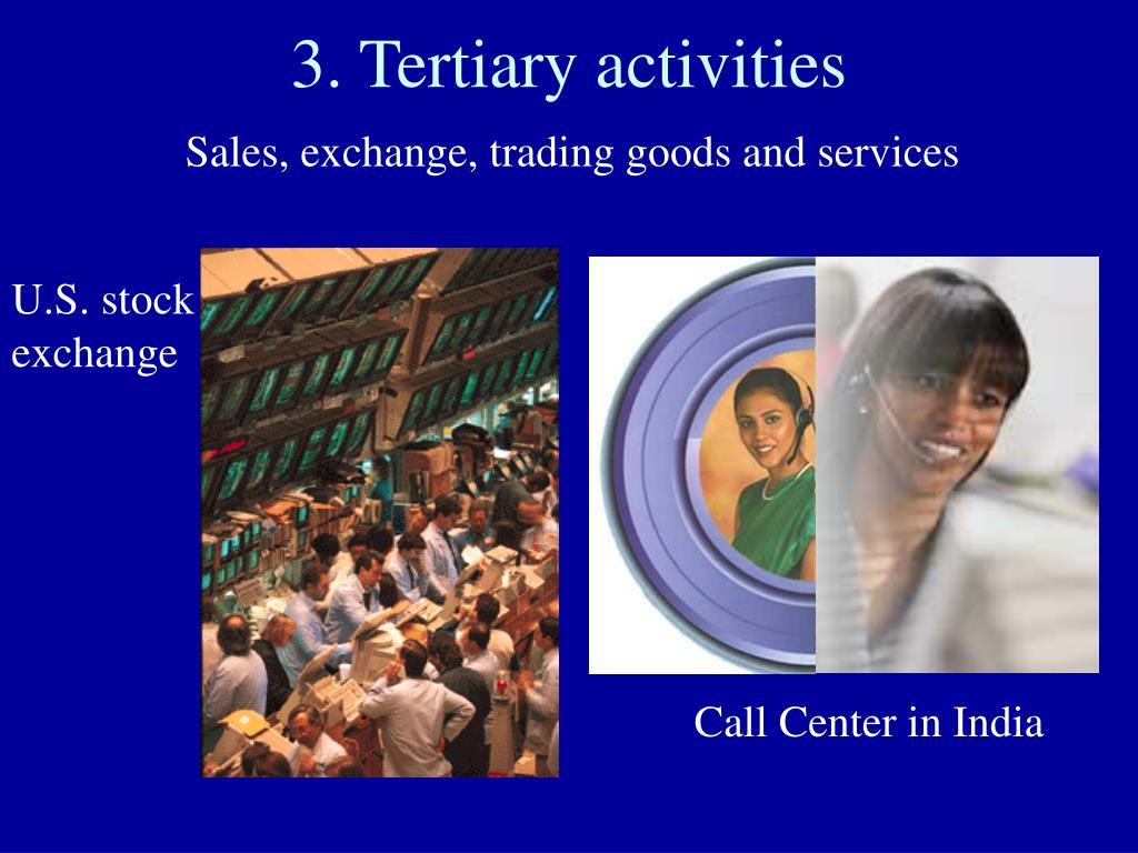 3. Tertiary activities
