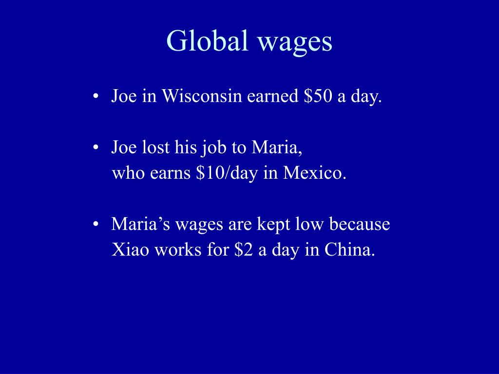 Global wages