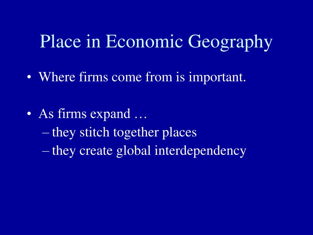Place in Economic Geography