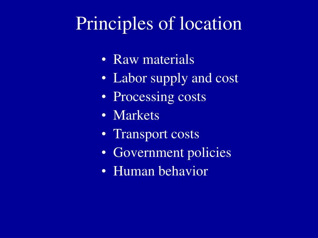 Principles of location