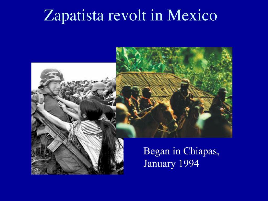 Zapatista revolt in Mexico