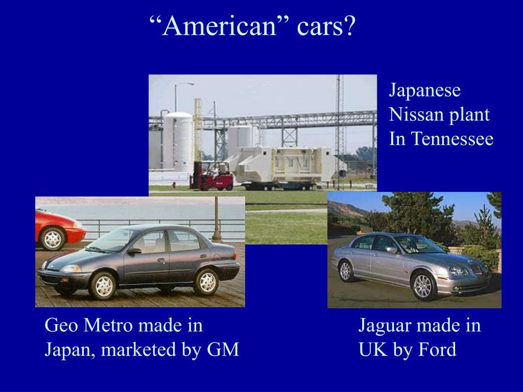 """American"" cars?"