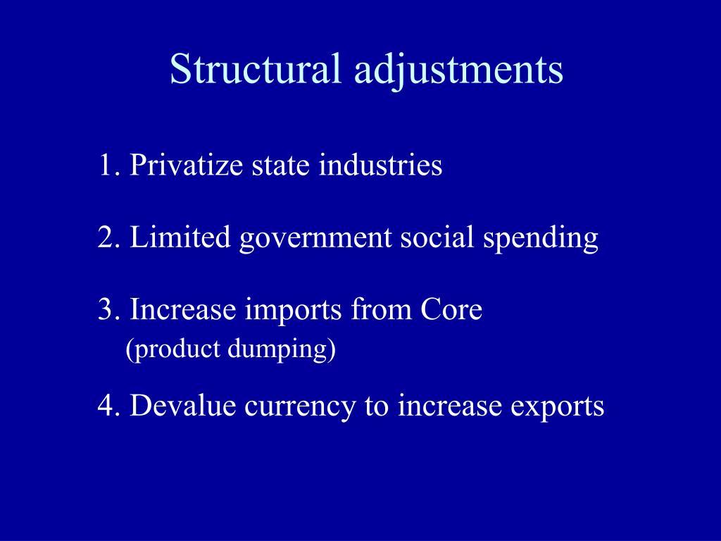 Structural adjustments